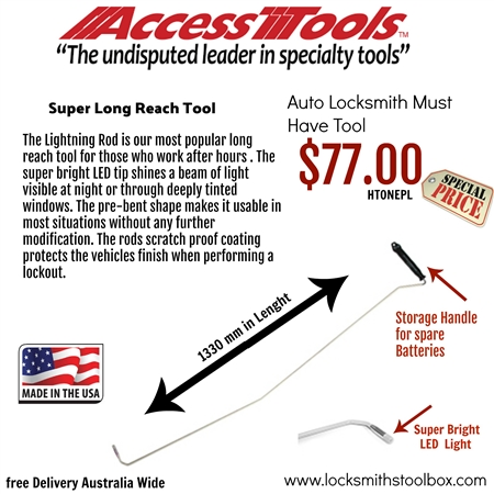 Access Tools USA -Lightning Rod Long Reach Tool