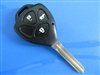 TOYOTA 3 BUTTON REMOTE KEY SHELL TOY43