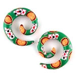 "Casino ace card poker roulette dice gambling spiral stretcher extender ear gauges plugs acrylic body jewelry 00G 0G 1/2"" 2G 4G 6G 8G AP-91-N"