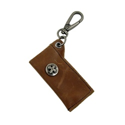 Genuine Leather  Key Chain - Pouch - Dark Brown