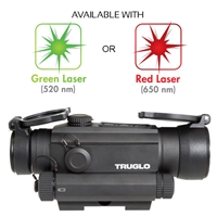 TRUGLO TRU-TEC TG8130GN 30MM RED-DOT SIGHT W GREEN LASER