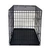 "Black 42"" Metal Folding Crate"