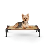 K&H Pet Products Pet Cot Small Chocolate Raised Dog Bed