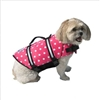 Paws Aboard Pink Polka Dot Neoprene Life Jacket Small