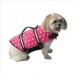 Large Paws Aboard Pink Neoprene Life Jacket
