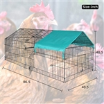Portable Pet Pen, cat, playpen, duck pen, small dog run, chicken tractor, chicken coop and rabbit cage. BP-C8640