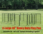 Extra Large Heavy Duty Pet Playpen and pet kennel for indoors and outdoors use.
