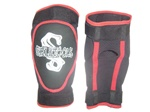 Skeletools logo leather knee pad