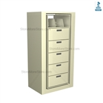 office secure rotating file shelf, office rotary shelving system, office rotary file cabinets, Mayline ARC-in-the-Box