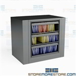 Revolving Cabinet for Hanging File Folders Legal-Size 3 High Roll-outs Datum EZ2