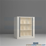 rotating secure file cabinets, office secure rotating file shelves, rotary file shelf, Mayline ARC-in-the-Box