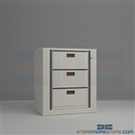 office secure rotating file systems, rotary shelving system, rotary filing cabinets, Spacesaver Rotary File