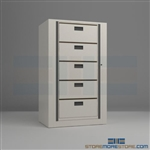 office secure rotary files, medical rotating file dealer, rotary cabinet, Aurora Times-12
