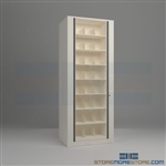 office rotary file shelving systems, office secure rotary file cabinets, office rotating file dealer, office secure rotating filing cabinets, Spacesaver Rotary File
