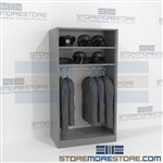 Hanging Uniform & Gear Shelving Quartermaster Storage Racks Storing Police Vests