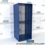 Metal racks for painting storage is perfect for safes, backroom storage, museums, and schools that need storage for artwork to ensure art if being safely stored and organized in an all steel shelving units for businesses.