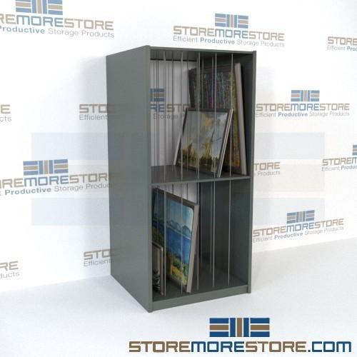 Framed Art Racks How to Store Fine Artwork Adjustable Steel Shelving ...