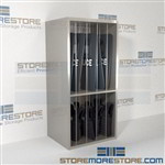 Police Riot Equipment Storage Racks | Shelves Storing Body Armor Gear Shields