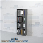 Open Binder Storage Metal Wall Shelving 24 Inches Wide Starter Unit