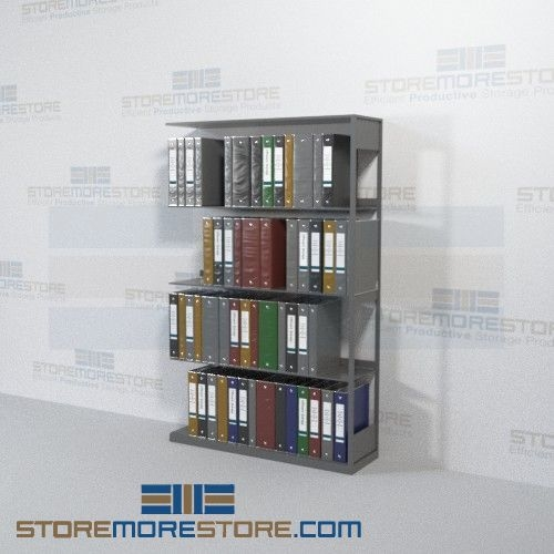 Open Metal Wall Shelving Office Racks Adder Unit Four Levels Wall