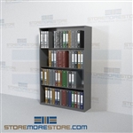 File Notebook Binder Storage Steel Racks 4 openings Wall Unit