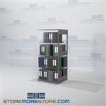 "Medical Workbook Storage Shelving Adjustable Office Racks 64"" High"