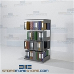 Storage Shelves Open Filing Shelves Binder Storage Double Sided Racks
