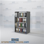 Adjustable Racking Notebook Storage Binder Shelving Double-Sided Shelves