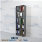 "Notebook Storage Office File Shelving with Closed End Panels 24"" Wide"