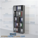 "Office File Shelving Boltless Racks with Solid End Panels 30"" Wide Starter Unit"