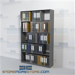 Free Standing Adjustable Office Racks with Closed End Panels 5 Levels Wall Unit