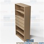 Drawer Shelving Units for Office Storage Metal Book Shelves File Boxes Binders