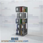 "Boltless Adder Unit Office Notebook Storage Shelving 24"" Wide"