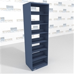 Office Record File Shelving 30 inch wide by 24 inch deep steel file shelving