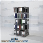 Double Sided Shelving Unit Medical Office racks Binder Storage 5 Levels