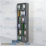 "Office Open Shelving Storage Adjustable Binder Racks 24"" Wide Starter Unit"