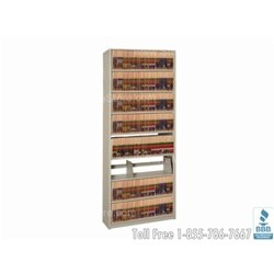 "File Shelving In-A-Box Single Sided Starter Wall Unit - 36"" Wide x 12"" Deep x 88-1/4"" High, 9 Shelves, 8 Openings, #SMS-19-881236-S8P"