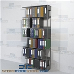 Adjustable Office Racks End Tab Filing Open Shelves 6 Openings Wall Unit