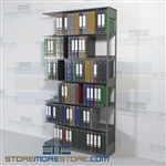 Medical Office Shelving Open Storage Binder Racks 6 Openings Wall Unit