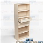 Office Supplies Drawers in Shelving Organizing Storage Shelves Mixed Media Books