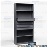 Metal Drawer Shelving Storage Cabinet Adjustable Metal Shelves Supplies DVD CD