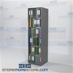 "Medical Filing Charts Office Shelving Adjustable Racks 24"" Wide Starter Unit"