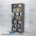 Open File Shelf Unit Adjustable Office Racks Notebook Storage 6 Levels
