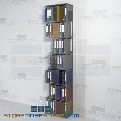 Metal shelving medical chart binder open file shelf