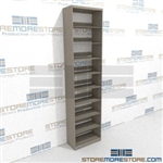 "Medical Chart Office Racks Storage Shelves Four Levels Wall Unit 97"" Hi Shelf"