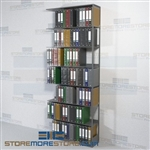 Shelving Storage Shelving Adjustable File Pocket Racks 7 Openings Wall Unit