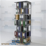Office Shelving Storage Document Filing Unit Closed End Panels 7 Levels