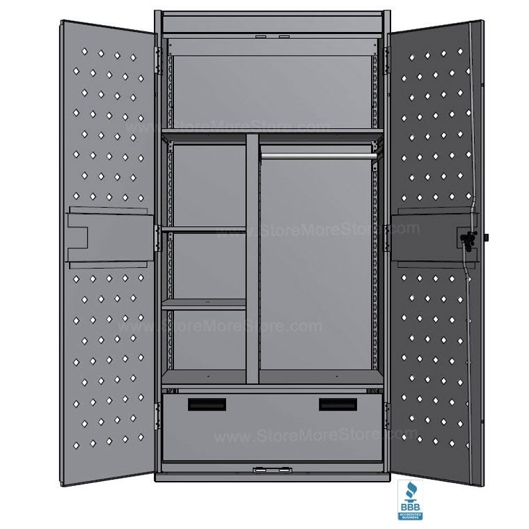 Police Tactical Gear Storage Locker Military Wall