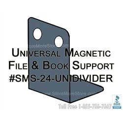 Magnetic Divider works on all types of steel shelves. Great for file dividers, book supports, metal cabinet shelves - the only divider you will ever need.