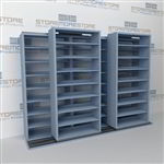 Legal File Shelving on Tracks B232LG-4P8 | Double Depth Rolling Storage Shelves